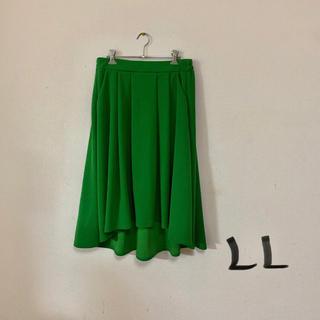 大きいサイズ フレアスカート  美品(ひざ丈スカート)
