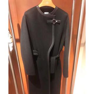 エルメス(Hermes)の今期完売34お得なエルメス新品本物カシミアロングコート黒(ロングコート)