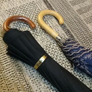 Borsalino - 【新品】Borsalino 高級12本骨傘  黒 + おまけの晴雨兼用傘