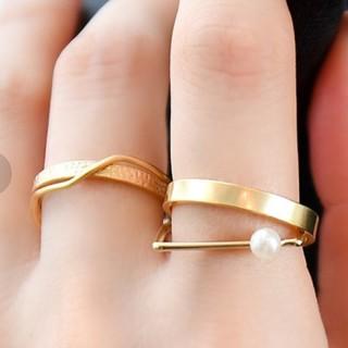 フィービィー(phoebe)のエレガントモードレイヤードリング  13号(リング(指輪))