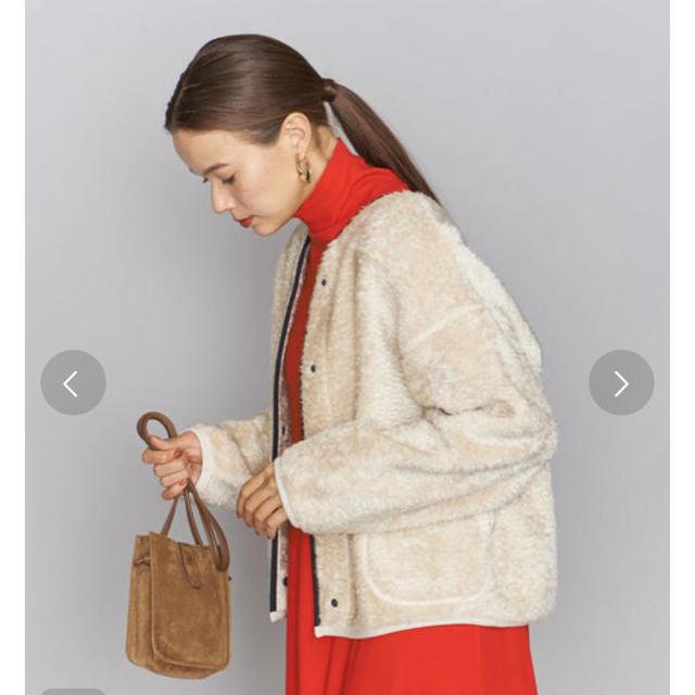 BEAUTY&YOUTH UNITED ARROWS(ビューティアンドユースユナイテッドアローズ)のBEAUTY&YOUTH パイピングボアブルゾン レディースのジャケット/アウター(ブルゾン)の商品写真