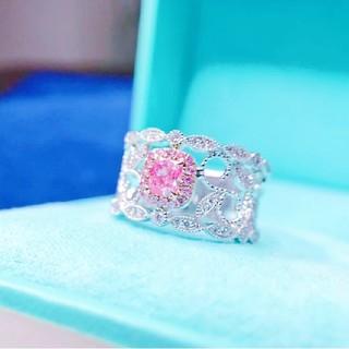 ♡可愛いピンクダイヤモンドリング(リング(指輪))