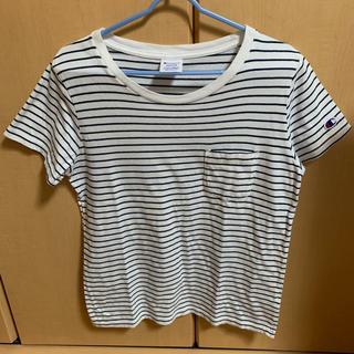 チャンピオン(Champion)のチャンピオン ボーダーTシャツ 白(Tシャツ(半袖/袖なし))