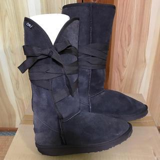 エミュー(EMU)の★emu  エミュー リボン ムートンブーツ(ブーツ)