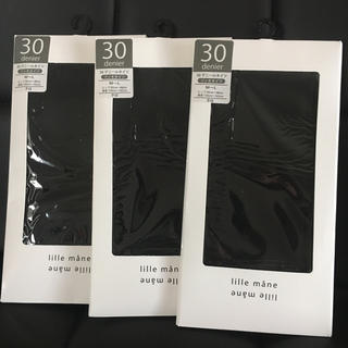 新品 タイツ 30デニール 3枚セット 黒