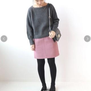 IENA SLOBE - iena slobe メルトン台形スカート 2018AW