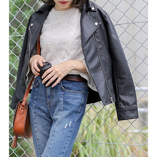 ディーホリック(dholic)のselect MOCA ライダースジャケット 2度のみ着用 韓国ファッション(ライダースジャケット)