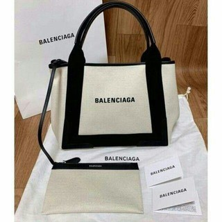 Balenciaga - バレンシアガ ネイビーカバS デニム 白黒 ハンドバッグ 新品未使用