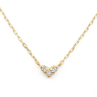 BLOOM - 【BLOOM/ブルーム】K10イエローゴールド ダイヤモンド ハート ネックレス