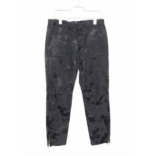 Drawer - ● ドゥロワー ● 裾 ジップ カモフラ クロップドパンツ ブラック 36サイズ