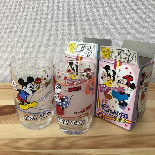 レトロ ディズニー グラスセット インテリア/住まい/日用品のキッチン/食器(グラス/カップ)の商品写真
