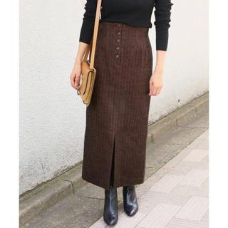 IENA - ボタンフライモールタイトスカート