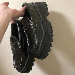 新作 厚底 原宿 韓国 レディース 革靴 新品 シューズ(ローファー/革靴)