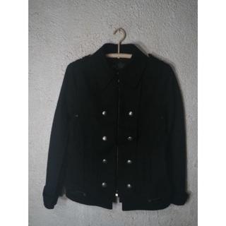 ピーピーエフエム(PPFM)の5231 PPFM Pコート デザイン ジャケット 部分合皮 人気(ピーコート)