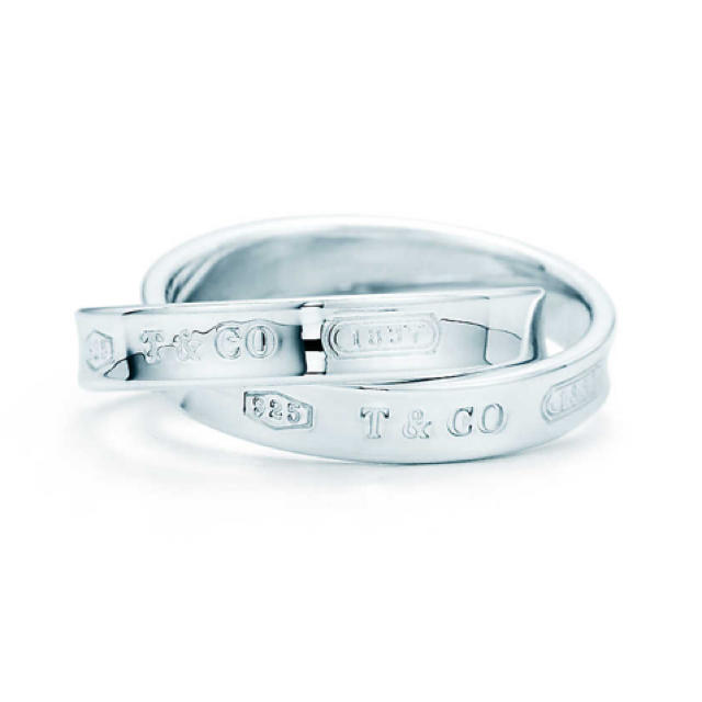 Tiffany & Co.(ティファニー)のお値下げ!ティファニー1837 インターロッキング サークル リング 2連リング レディースのアクセサリー(リング(指輪))の商品写真