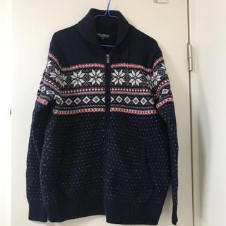 Eddie Bauer - 冬物セール‼️エディーバウアー メンズ ウール ジップアップセーター
