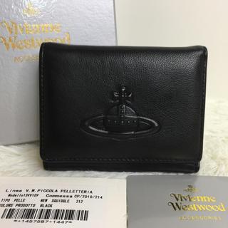 Vivienne Westwood - 新品 Vivienne Westwood レザー 二つ折り財布 ブラック