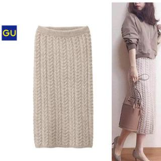 GU - GU ケーブルニットスカート