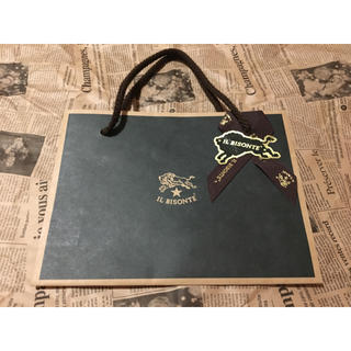 IL BISONTE - 厚紙補強◆お急ぎの場合はご相談を◆イルビゾンテ ショッパー 紙袋 リボンシール付