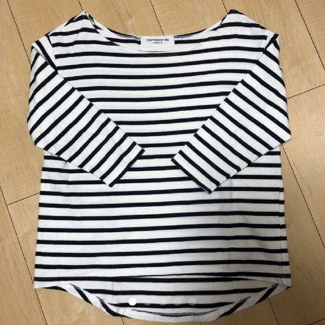 DEUXIEME CLASSE(ドゥーズィエムクラス)のLEFFRONTEE ボーダーシャツ レディースのトップス(カットソー(長袖/七分))の商品写真
