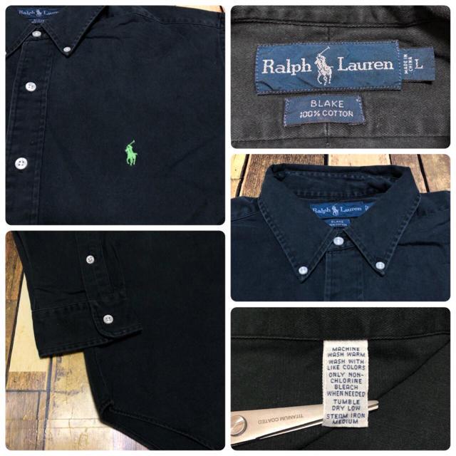 Ralph Lauren(ラルフローレン)の【激レア】ラルフローレン☆ワンポイント刺繍ロゴBDビッグチノシャツ 90s メンズのトップス(シャツ)の商品写真
