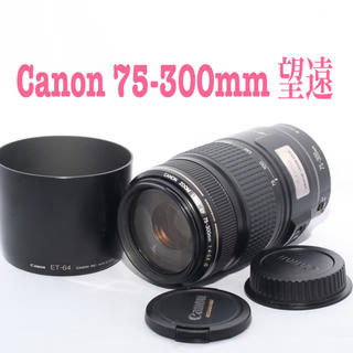 キヤノン(Canon)の❤️キャノン Canon 望遠レンズ 75-300mm❤️手ぶれ補正❤️(レンズ(ズーム))