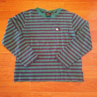 ジーユー(GU)のミッキー ボーダーロンT(Tシャツ/カットソー)
