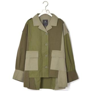w closet - w closet 3色切り替えミリタリー羽織り
