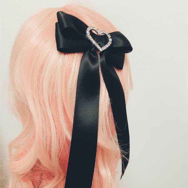 ゴスロリ ヘアアクセサリー 黒魔女さんのおめかしリボン レディースのヘアアクセサリー(バレッタ/ヘアクリップ)の商品写真