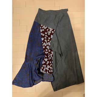 ルシェルブルー(LE CIEL BLEU)のルシェルブルー 花柄チェックスカート(ロングスカート)