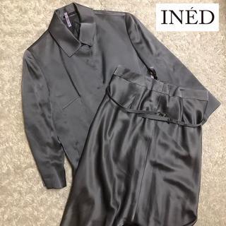 INED - 【INED】イネド サテン スーツ セットアップ Lサイズ