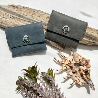 ALEXIA STAM - レザー調 くすみカラー コンチョ コインケース 小銭入れ 財布