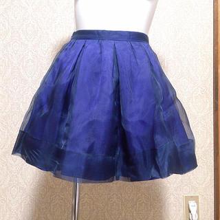 マーキュリーデュオ(MERCURYDUO)のマーキュリー ミニスカート ブルー(ミニスカート)