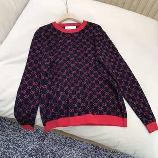 Gucci - GUCCI ウール カシミア ロゴ セーター