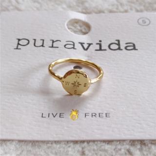 プラヴィダ(Pura Vida)のPura vida リング 指輪 コンパス US 5 ゴールド ロンハーマン取扱(リング(指輪))