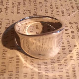 逆甲丸 シルバー925 リング  21号 ワイド 幅広 シンプル プレーン銀指輪(リング(指輪))
