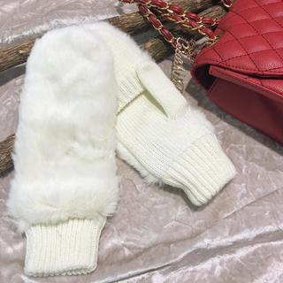セシルマクビー(CECIL McBEE)の新品未使用 CECIL McBEE ファーミトン(手袋)