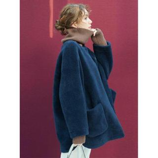 ミラオーウェン(Mila Owen)のノーカラーシャツカーブボアジャケット(ノーカラージャケット)