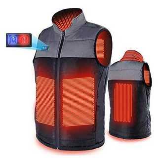 ブラックLMEXITOP 電熱ベスト 電熱ジャケット 充電式ヒート USB 加熱
