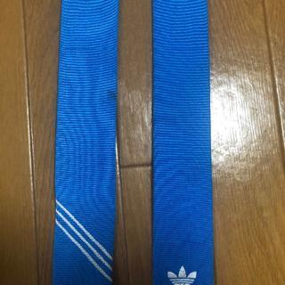 ベドウィン(BEDWIN)のadidas BEDWIN コラボシャツ 付属 ネクタイ ブルー(ネクタイ)
