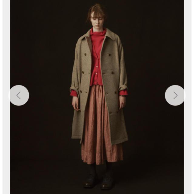 nest Robe(ネストローブ)のネストローブ シェトランドモッサーオフィサーコート レディースのジャケット/アウター(ロングコート)の商品写真