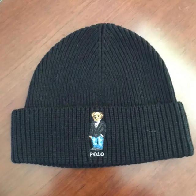 Ralph Lauren(ラルフローレン)のラルフローレンのポロベア 刺繍のニット帽 メンズの帽子(ニット帽/ビーニー)の商品写真