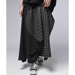 antiqua - 【antiqua】ZOZO限定 異素材 切り替え 変形 ロング スカート