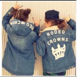RODEO CROWNS - 店舗限定レア!ロデオクラウンズ ボアGジャン デカロゴ Sサイズ RCWB