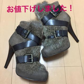 アッシュ(ASH)のASH  ファー付きショートブーツ Emma 37 新品美品(ブーツ)