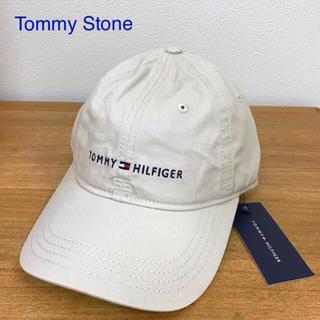 TOMMY HILFIGER - ◎新品 トミーヒルフィガー 帽子 キャップ ロゴ ベージュ Tommy