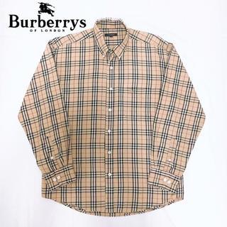 BURBERRY - 【希少L】バーバリー ノバチェック シャツ ベージュ Burberry 90s