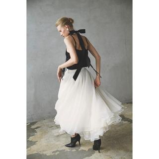 Ameri VINTAGE - Belle vintage デニムドッキングボリュームチュールスカート