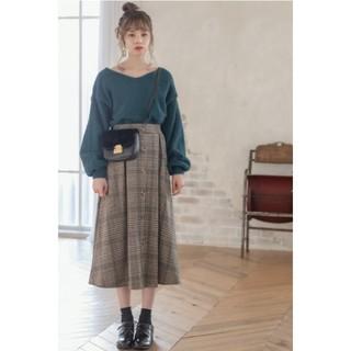 グレイル(GRL)のベージュ ブラウン スカート(ひざ丈スカート)