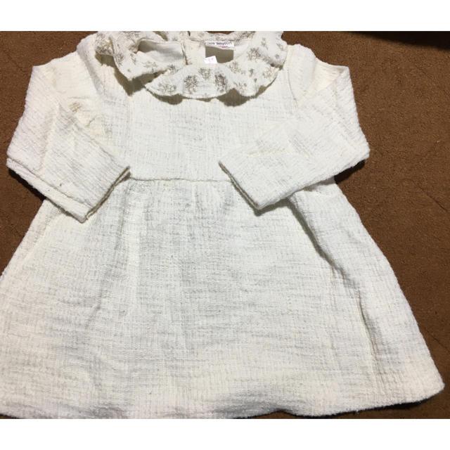 ZARA KIDS(ザラキッズ)のzara baby 刺繍ワンピース キッズ/ベビー/マタニティのキッズ服女の子用(90cm~)(ワンピース)の商品写真